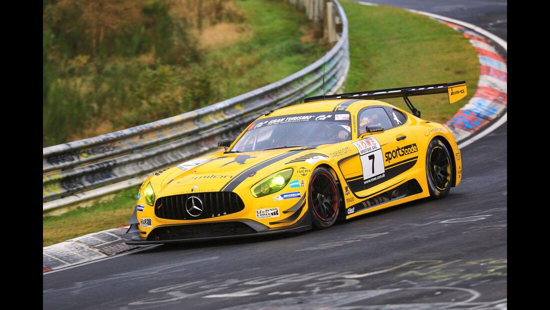 VLN - Nürburgring Nordschleife - Startnummer #7 - Mercedes-AMG GT3 - Black Falcon - SP9