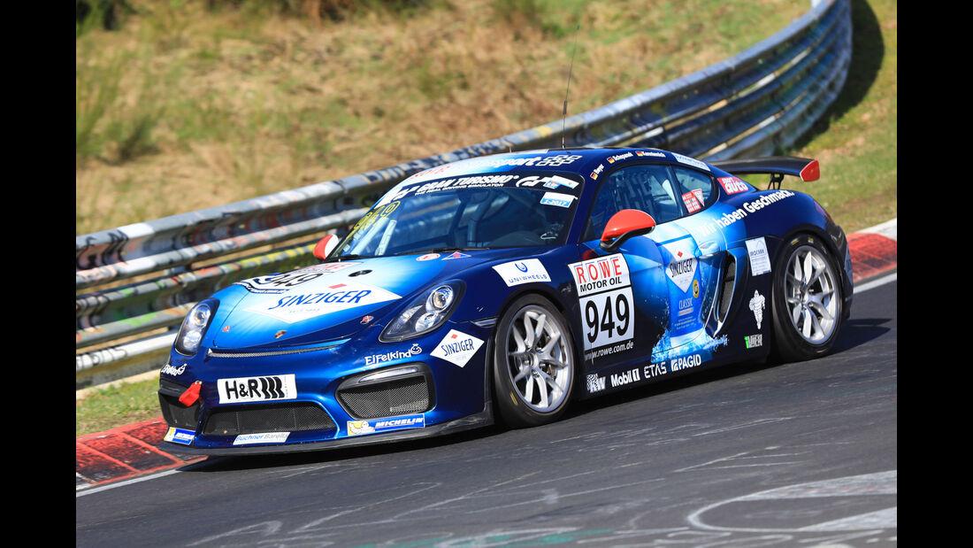 VLN - Nürburgring Nordschleife - Startnummer #949 - Porsche Cayman GT4 Clubsport - Team Securtal Sorg Rennsport - CUP3
