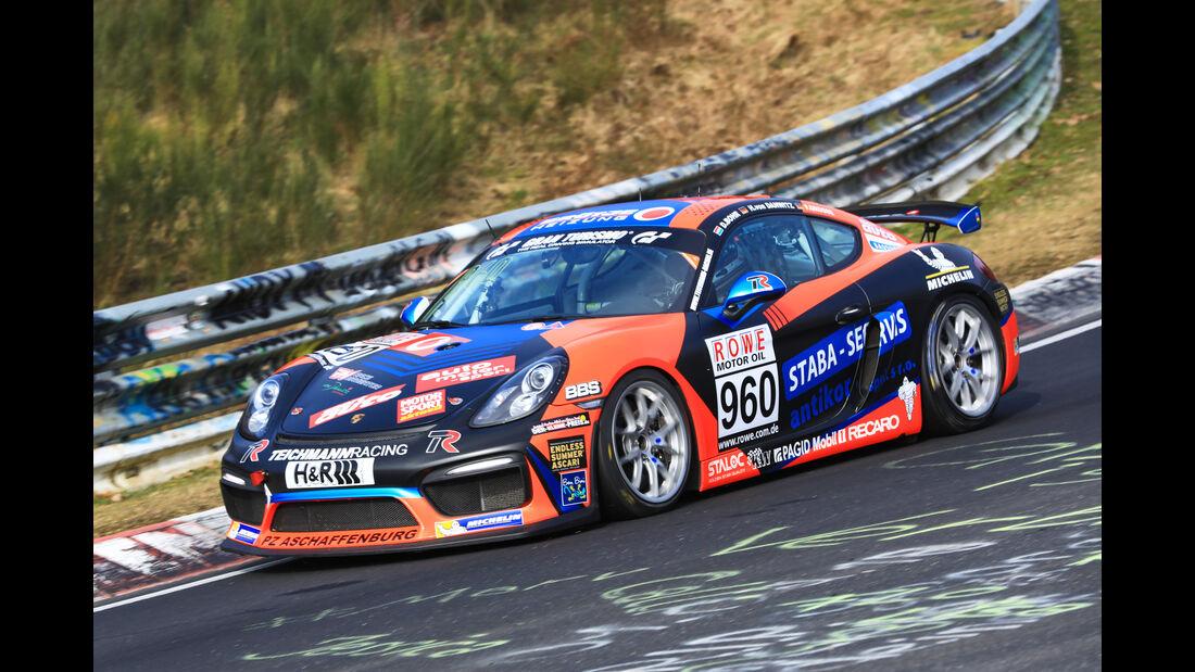 VLN - Nürburgring Nordschleife - Startnummer #960 - Porsche Cayman GT4 CS - Teichmann Racing - CUP3