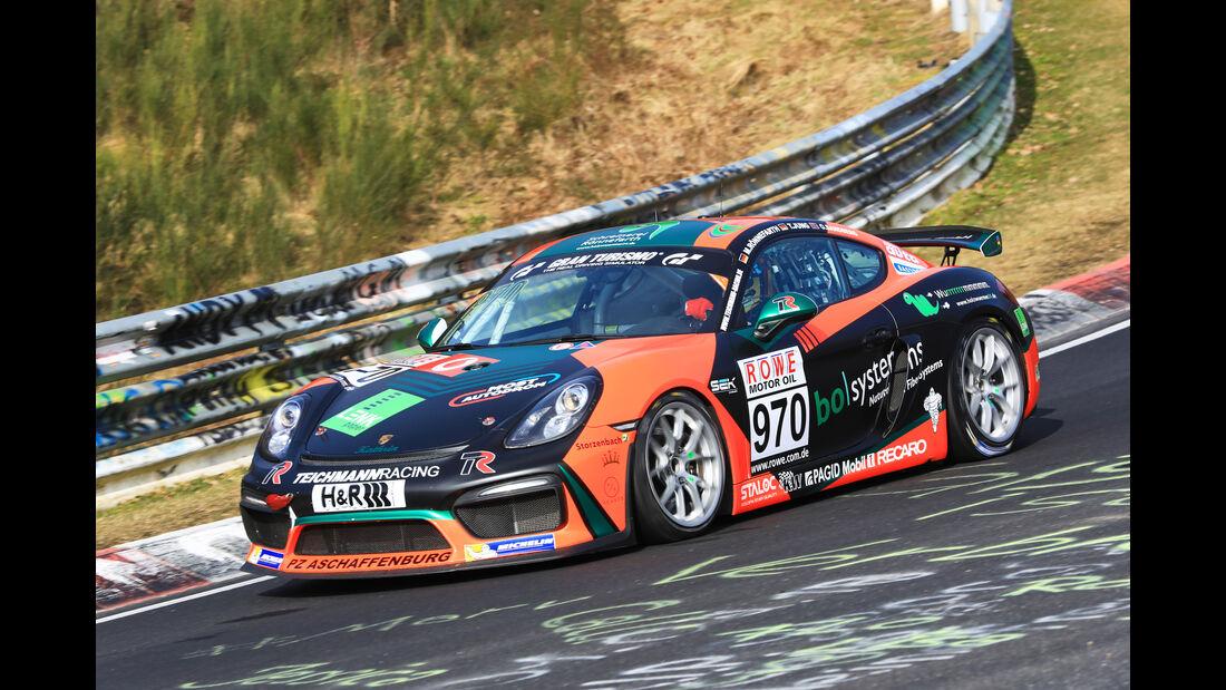 VLN - Nürburgring Nordschleife - Startnummer #970 - Porsche Cayman GT4 CS - Teichmann Racing - CUP3