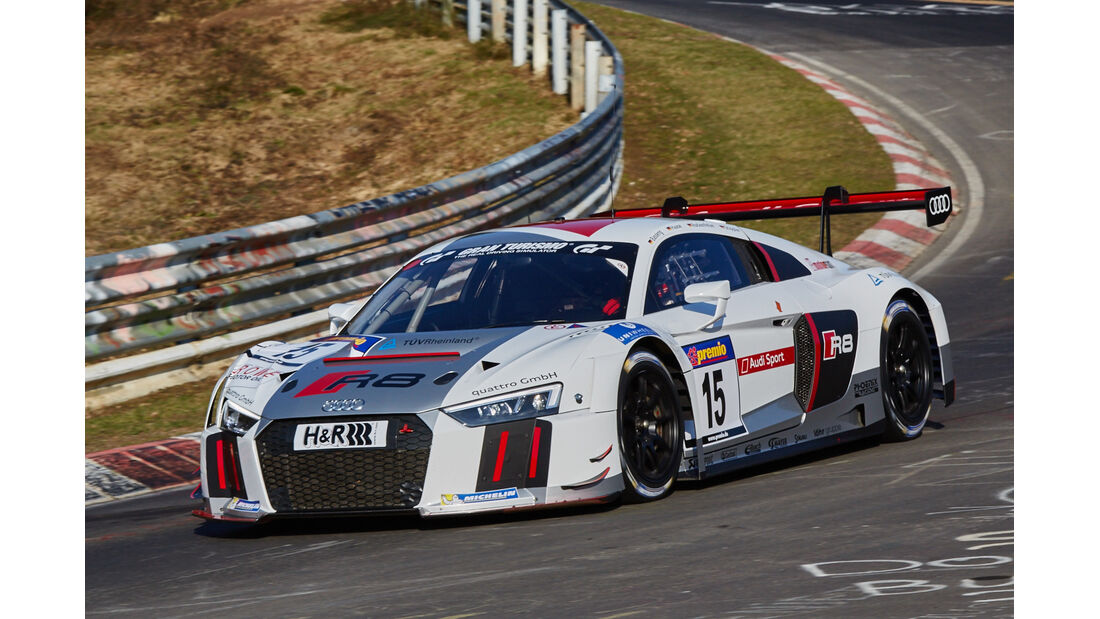 VLN2015-Nürburgring-Audi R8 LMS-Startnummer #15-SP9