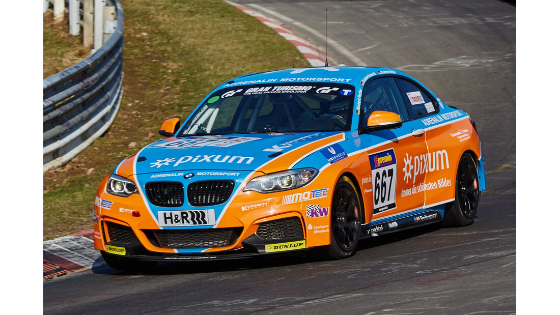 VLN2015-Nürburgring-BMW M235i Racing Cup-Startnummer #667-CUP5