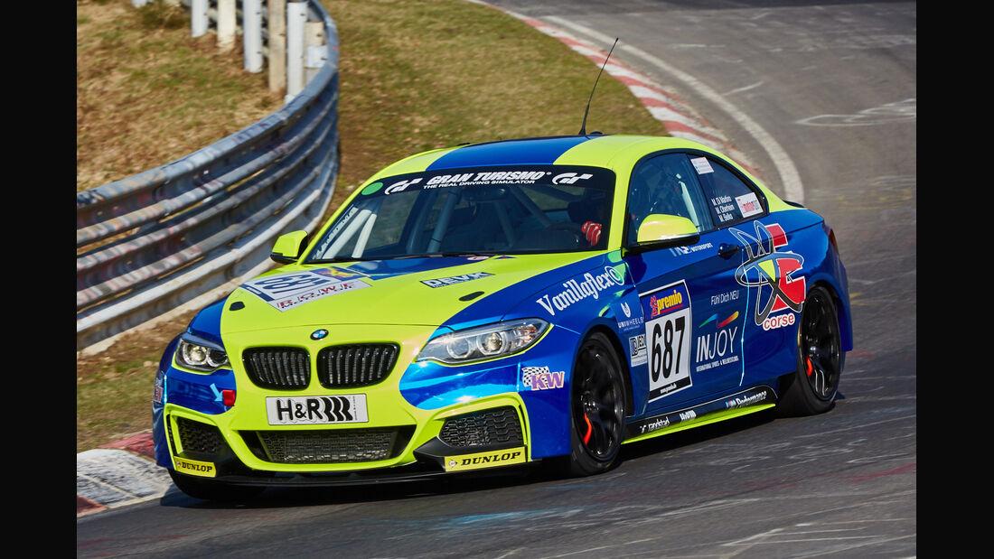 VLN2015-Nürburgring-BMW M235i Racing Cup-Startnummer #687-CUP5