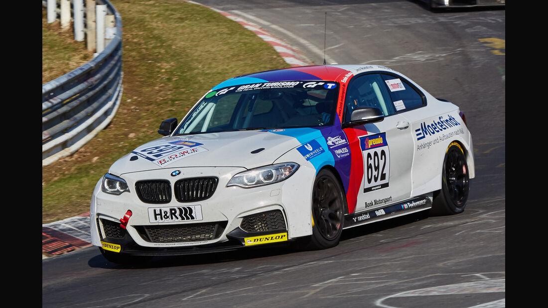 VLN2015-Nürburgring-BMW M235i Racing Cup-Startnummer #692-CUP5