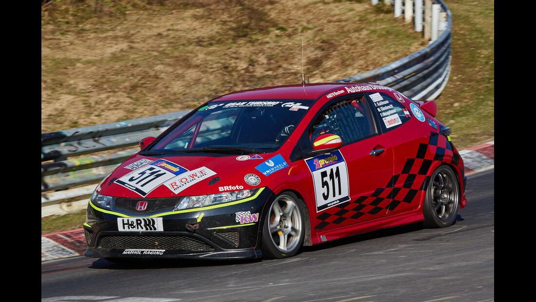 VLN2015-Nürburgring-Honda Civic Type R-Startnummer #511-V3
