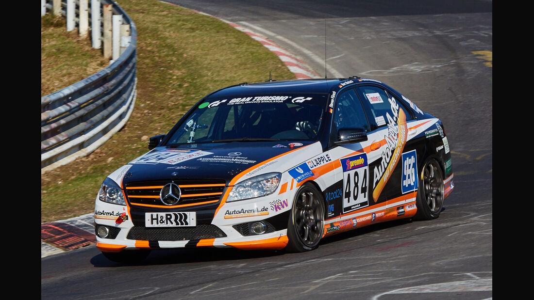 VLN2015-Nürburgring-Mercedes-Benz C 230-Startnummer #484-V4