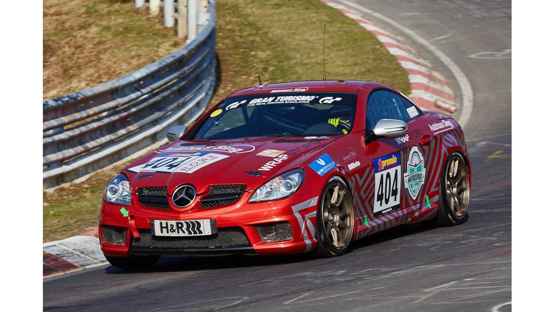 VLN2015-Nürburgring-Mercedes-Benz SLK 350-Startnummer #404-V6