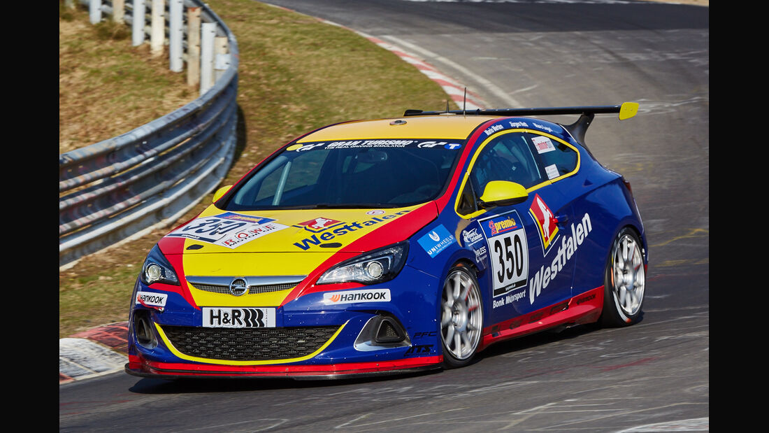 VLN2015-Nürburgring-Opel Astra OPC Cup-Startnummer #350-Cup1