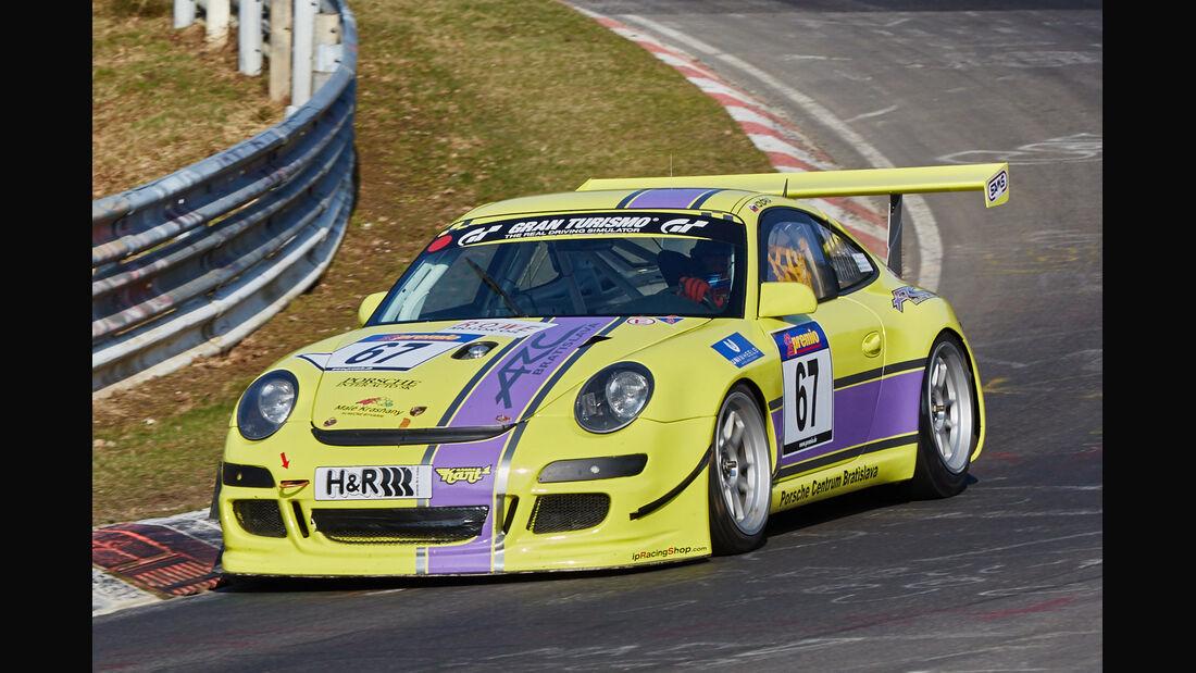 VLN2015-Nürburgring-Porsche 911 Cup S 997-Startnummer #67-SP7