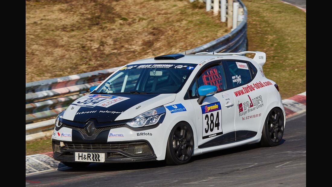 VLN2015-Nürburgring-Renault Clio-Startnummer #384-SP2T