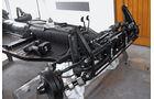 VW 1200 Cabrio, Bodenplatte, Fahrwerk