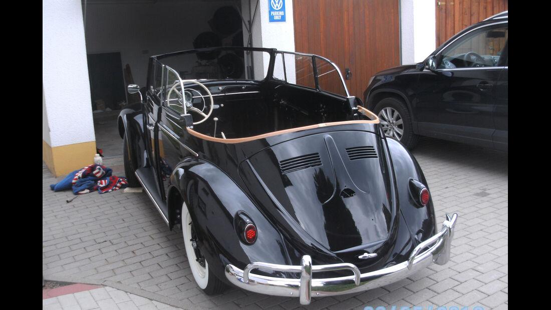 VW 1200 Cabrio, Heckansicht