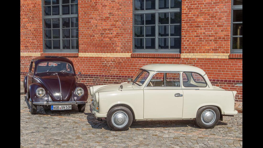 VW 1200, Trabant P, Frontansicht