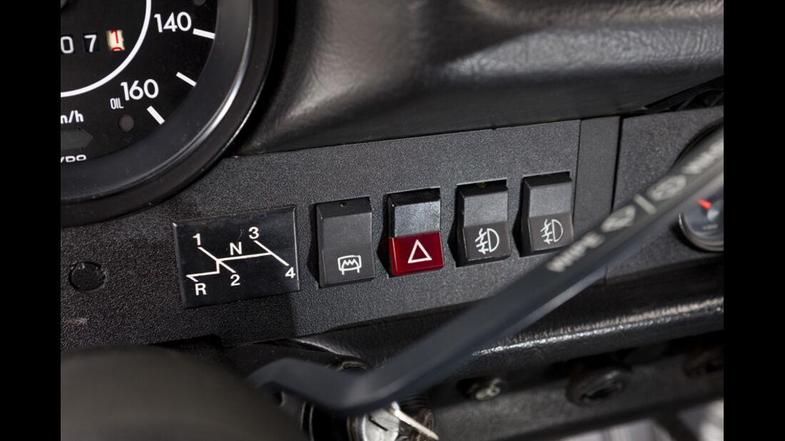 VW 1303 Rallye, Detail, Knöpfe, Schalter