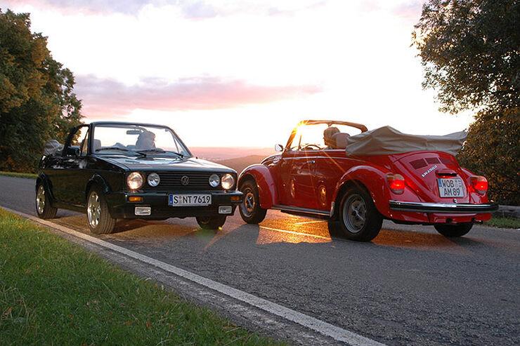 VW 1303 S Cabriolet und VW Golf I Cabriolet