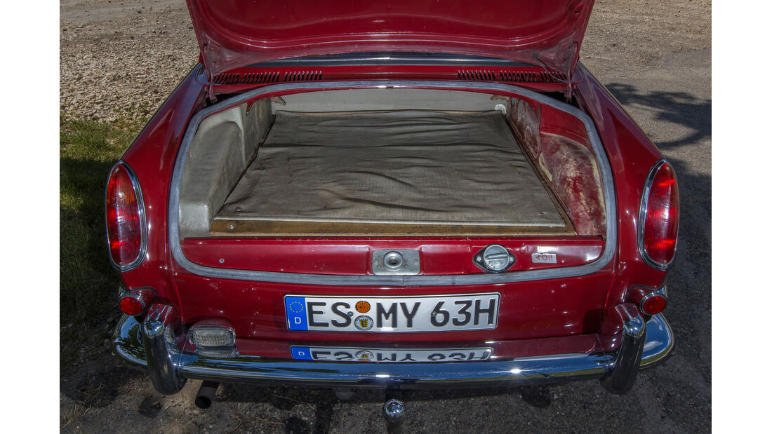 VW 1600 Typ 3, Kofferraum