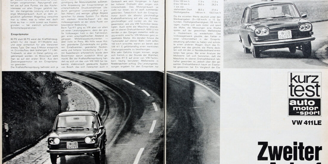 VW 411 LE, auto motor und sport-Artikel 1967