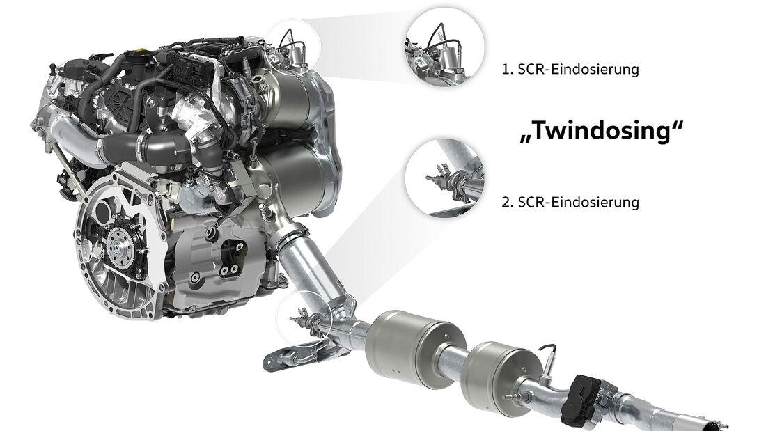 VW Abgasnachbehandlung SCR Kat Twindosing
