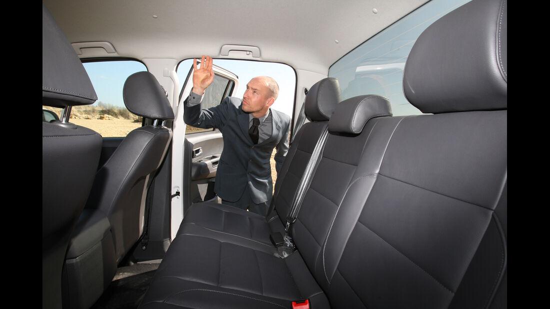 VW Amarok 2.0 BiTDI Highline, Rückbank, Kopffreiheit