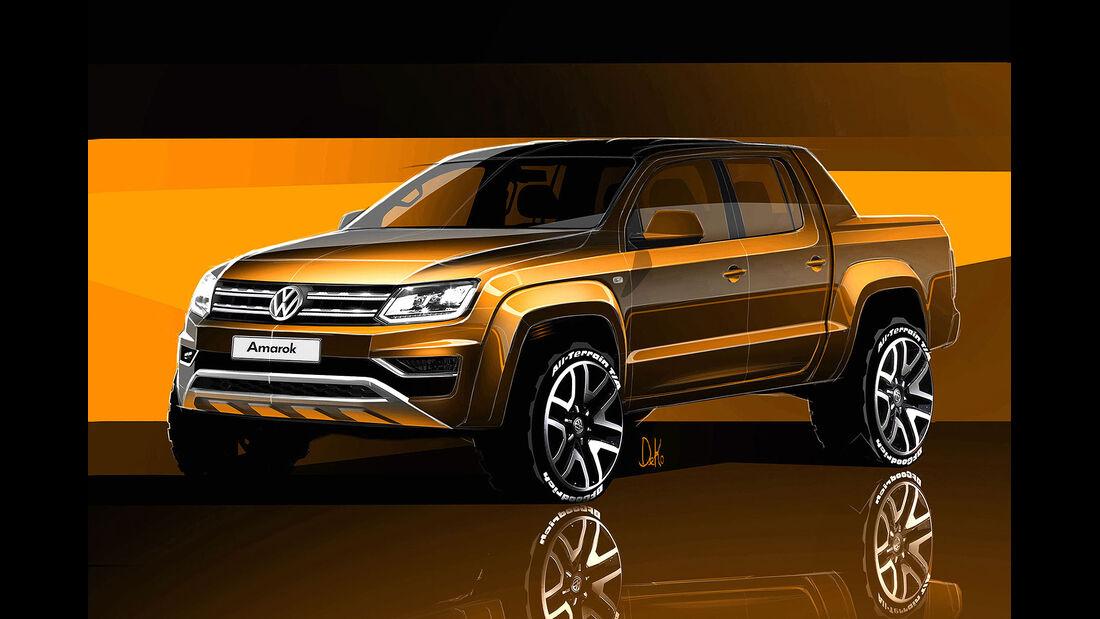 VW Amarok 2016 Designskizze