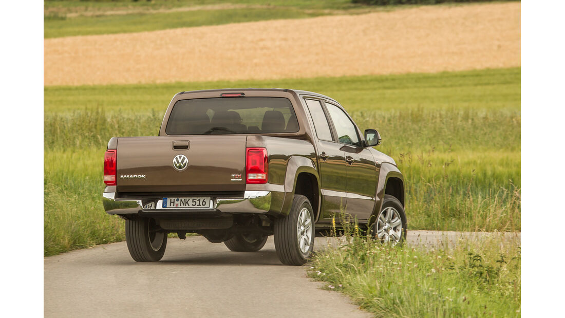 VW Amarok Double Cab 2.0 Bi TDi 4Motion BM T Highline, Heckansicht