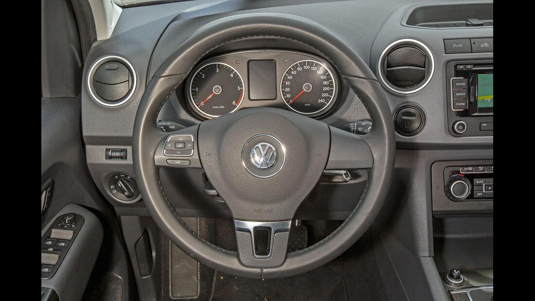 VW Amarok Double Cab 2.0 Bi TDi 4Motion BM T Highline, Lenkrad