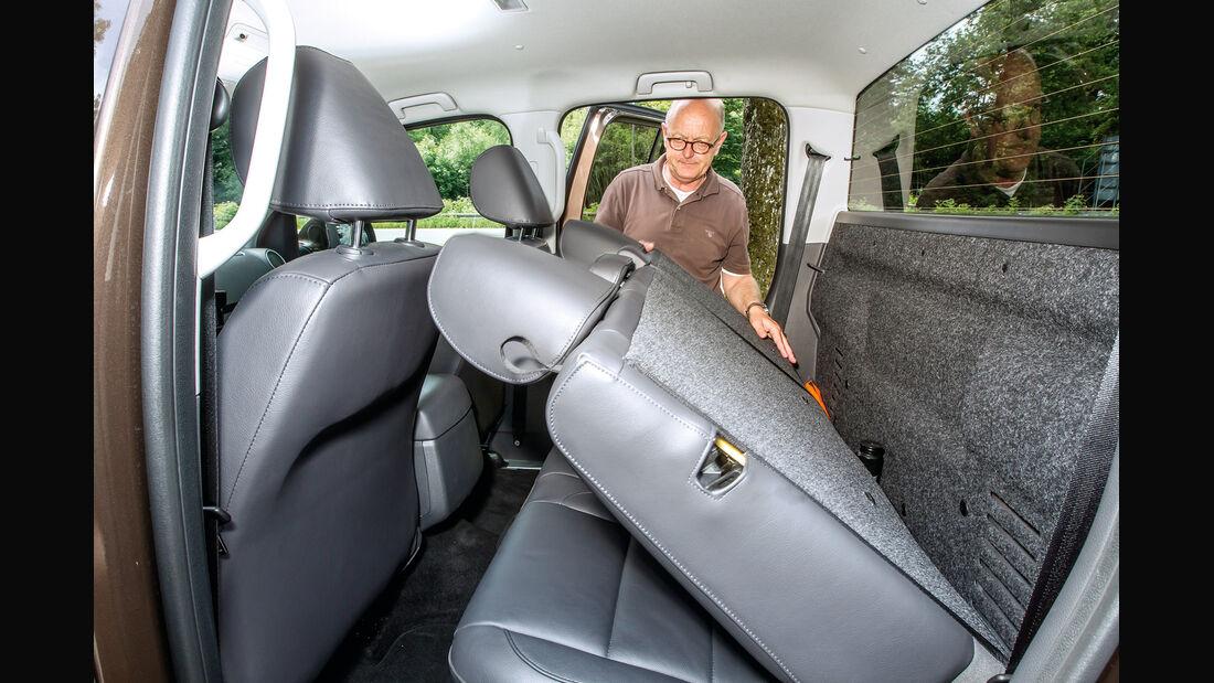 VW Amarok Double Cab 2.0 Bi TDi 4Motion BM T Highline, Rücksitz, umklappen