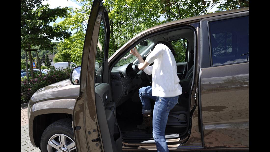 VW Amarok, Innenraum-Check, Sitzposition