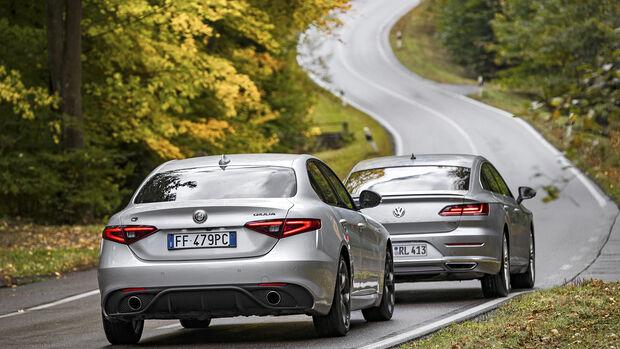 VW Arteon 2.0 TSI, Alfa Romeo Giulia Veloce, Exterieur