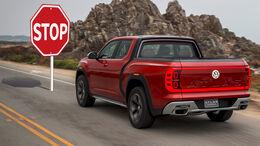 VW Atlas Tanoak Pickup Gestrichen Stop