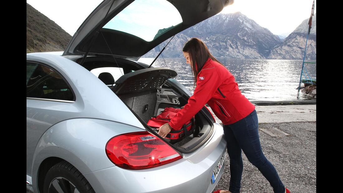 VW Beetle 2.0 TDI Design, Kofferraum, Heckklappe