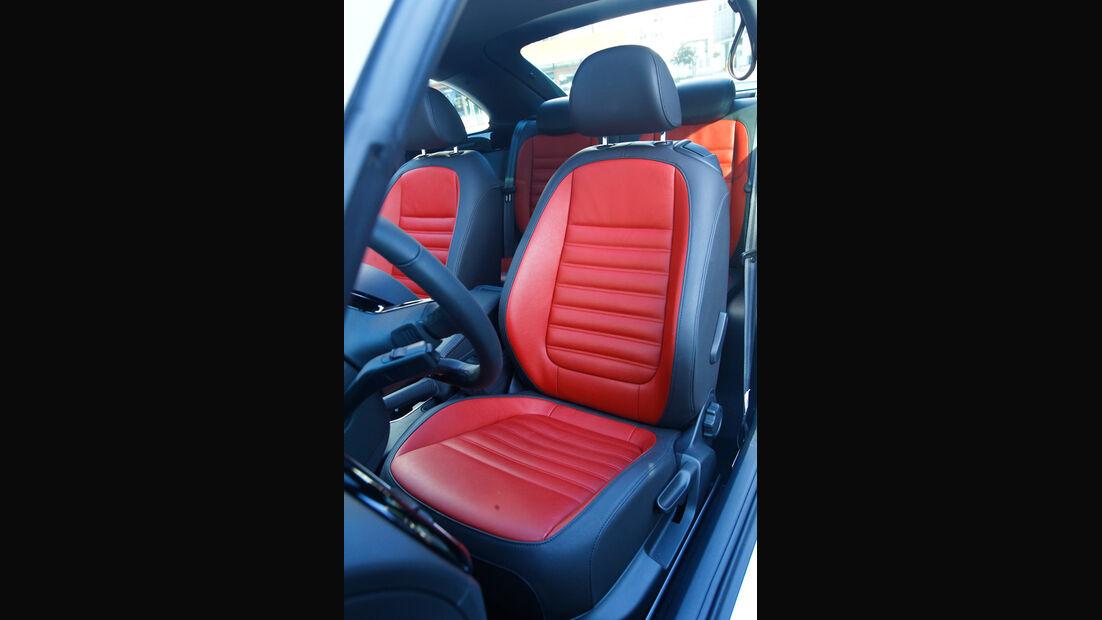 VW Beetle 2.0 TSI DSG, Fahrersitz, Sportsitz, Ledersitz