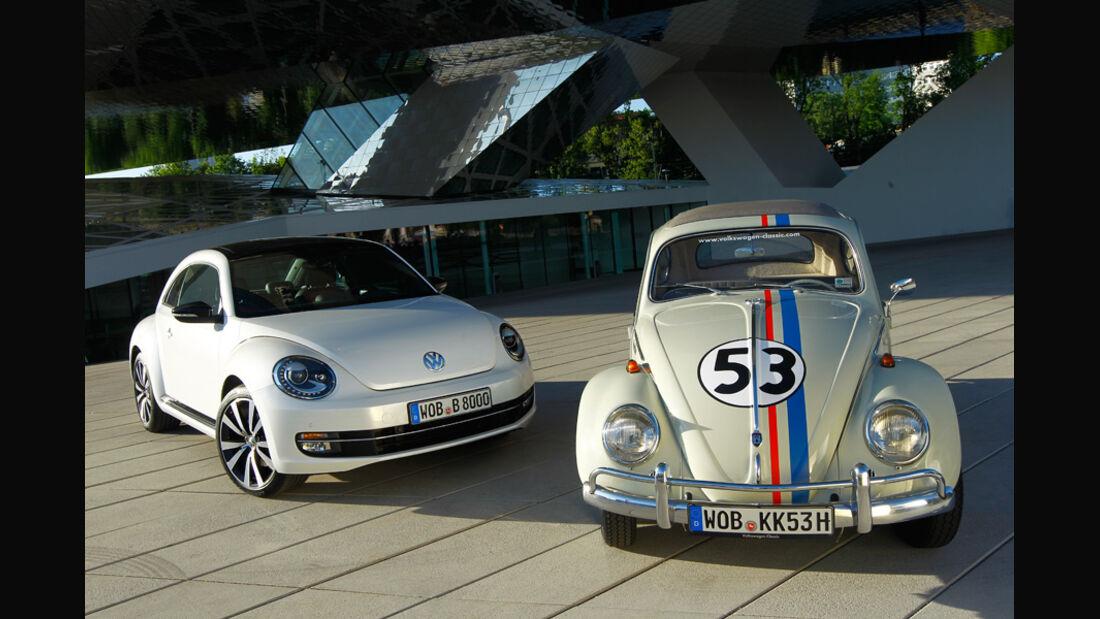 VW Beetle 2.0 TSI DSG, VW Käfer, beide Fahrzeuge, Frontansicht
