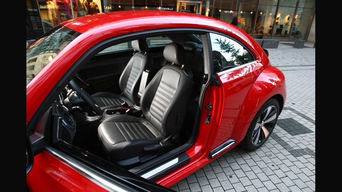 VW Beetle 2.0 TSI, Fahrersitz
