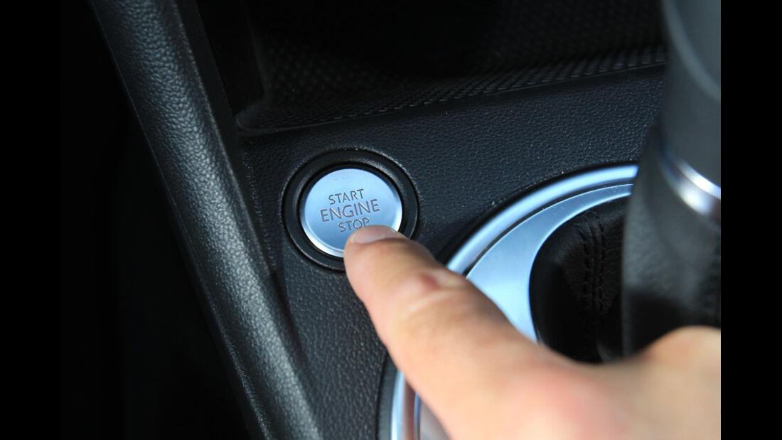 VW Beetle 2.0 TSI, Startknopf