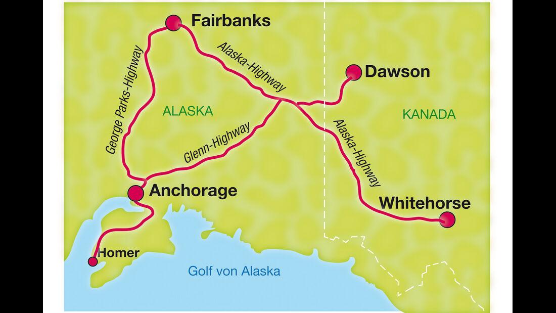 VW Beetle, Alaska, Alaska-Highway