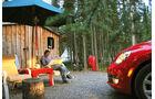 VW Beetle, Alaska, Campingplatz