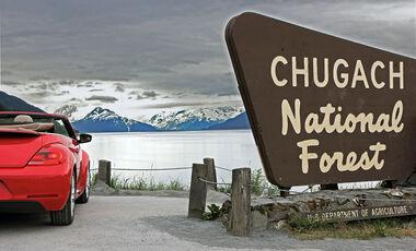 VW Beetle, Alaska, Nationalpark