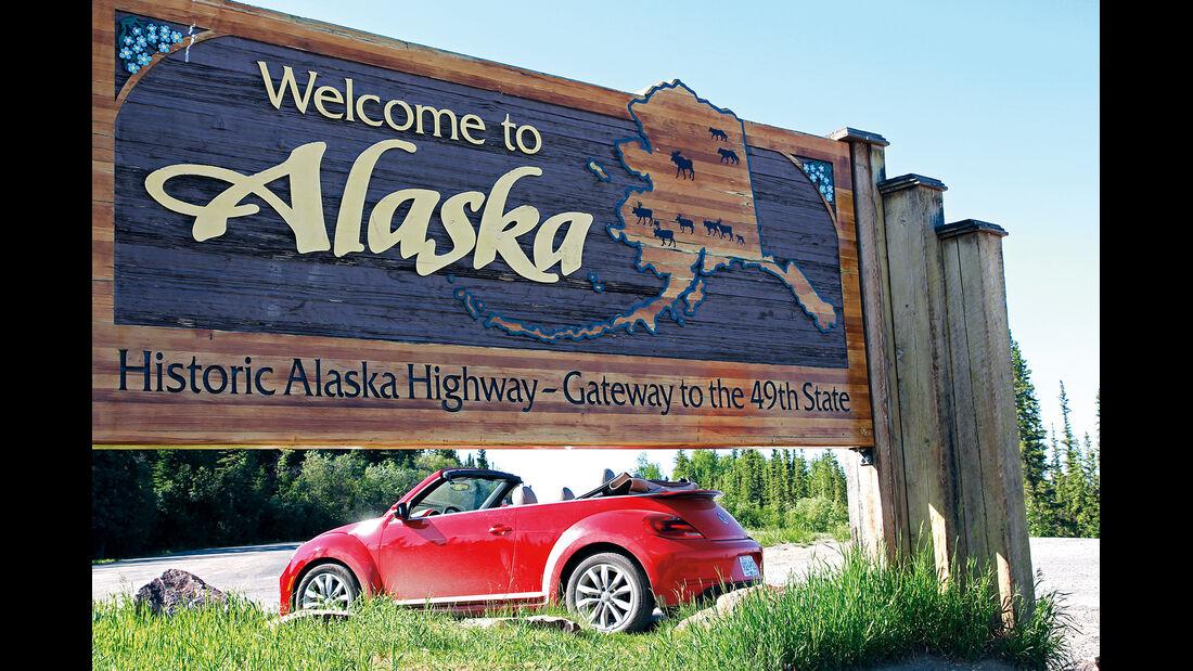 VW Beetle, Alaska, Schild