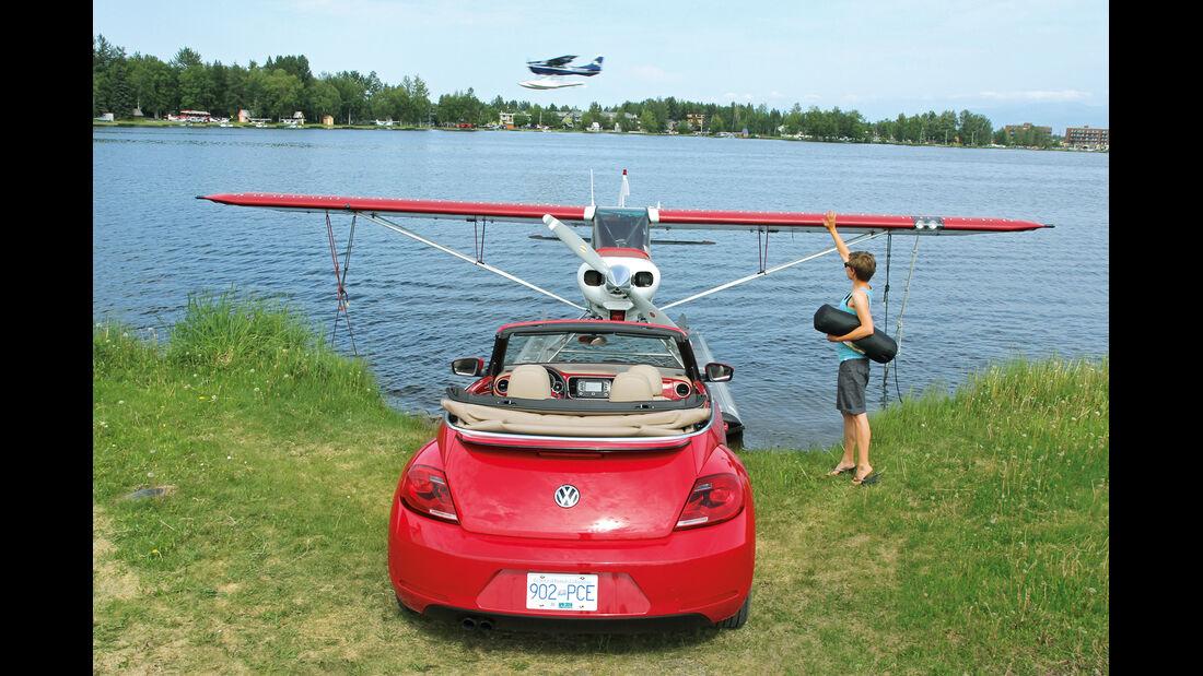 VW Beetle, Alaska, Wasserflugzeug