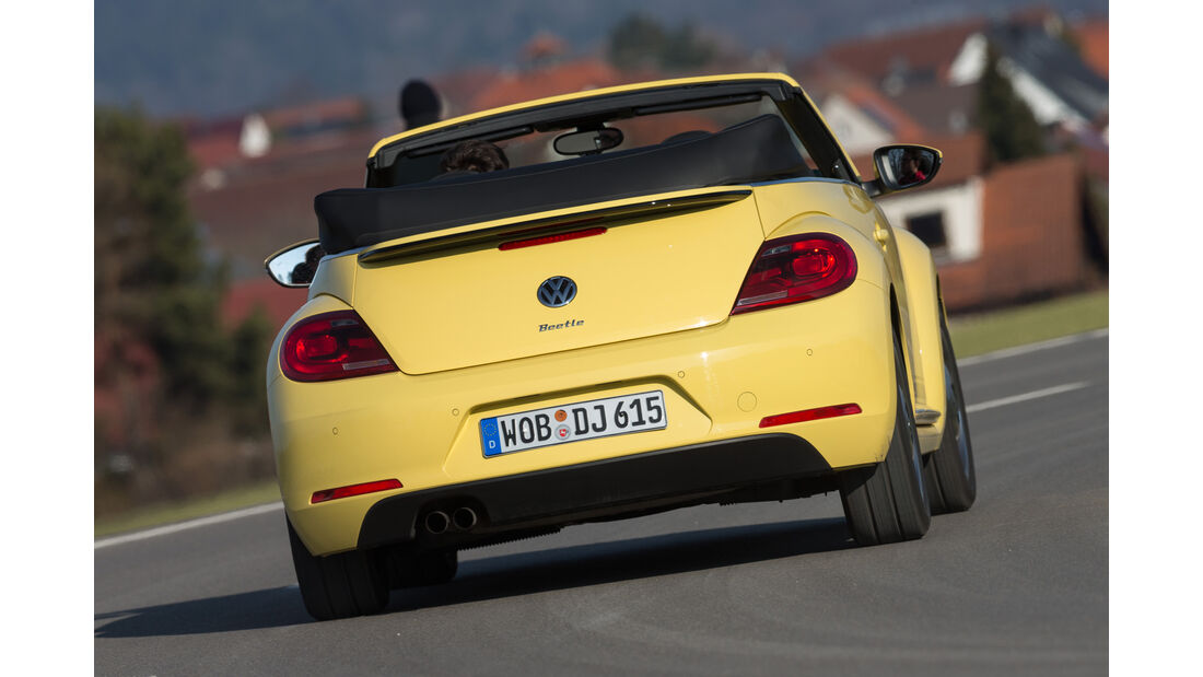 VW Beetle Cabrio 1.4 TSI, Heckansicht