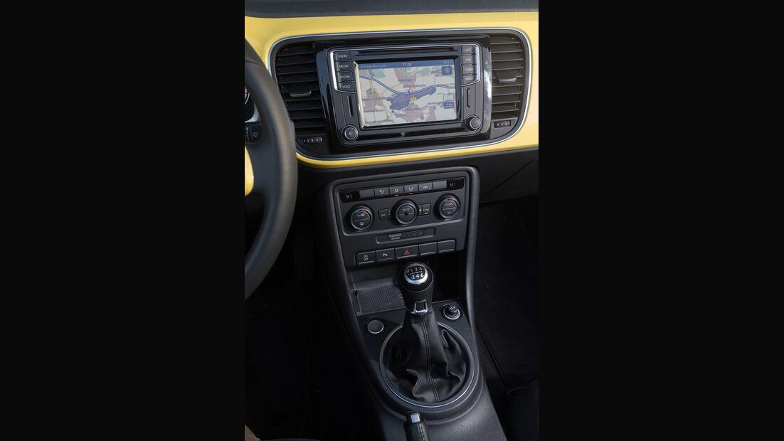 VW Beetle Cabrio 1.4 TSI, Mittelkonsole