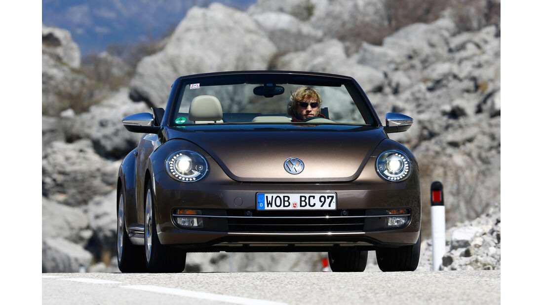 VW Beetle Cabrio 2.0 TDI, Frontansicht