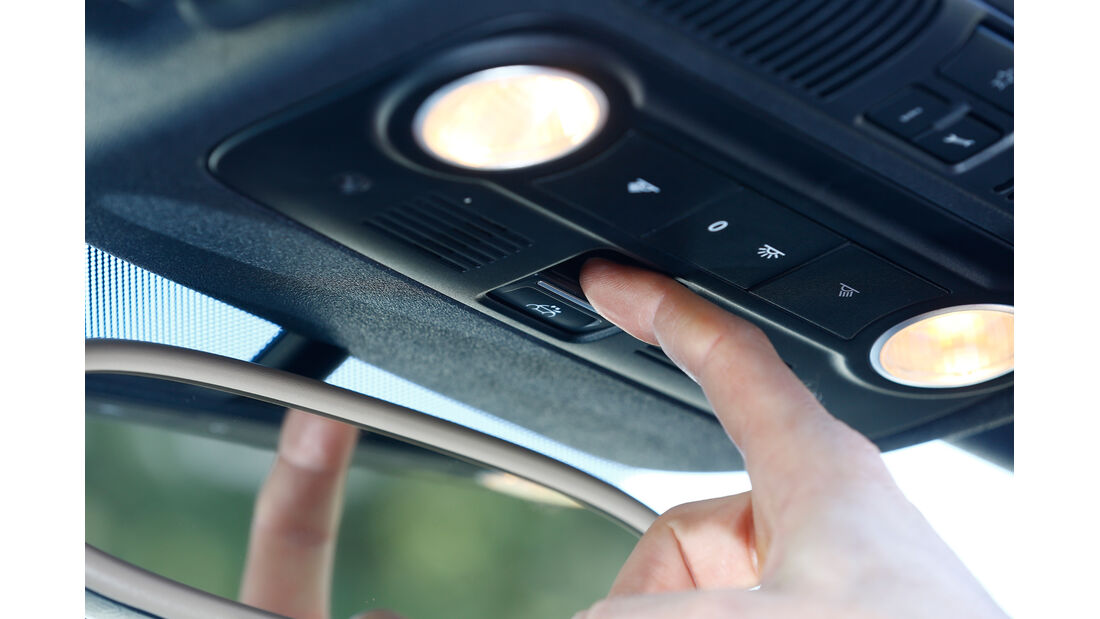 VW Beetle Cabrio 2.0 TDI, Innenlicht