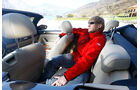 VW Beetle Cabrio 2.0 TDI, Rücksitz, Beinfreiheit
