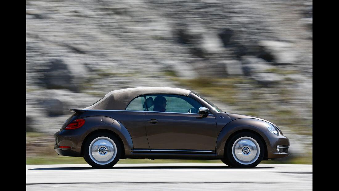 VW Beetle Cabrio 2.0 TDI, Seitenansicht