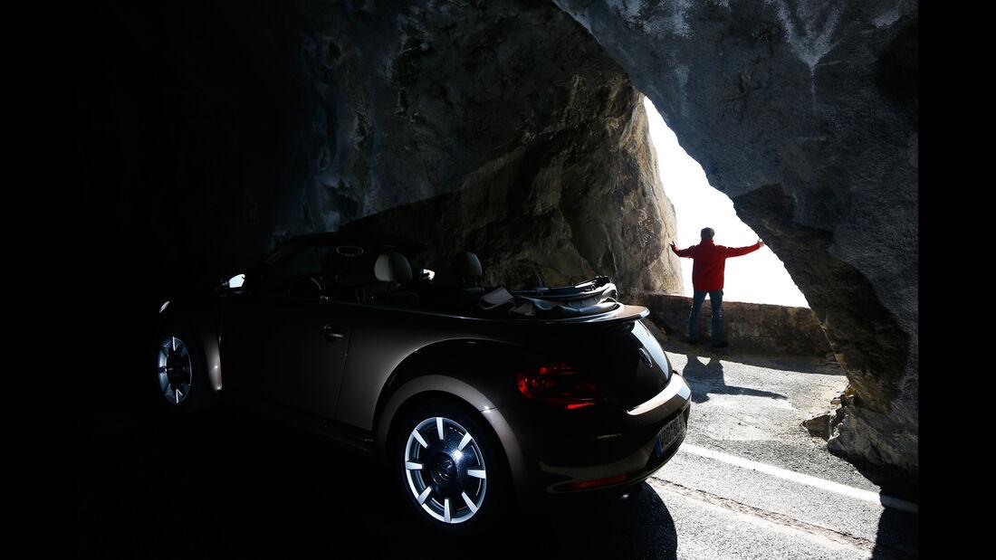VW Beetle Cabrio 2.0 TDI, Seitenansicht, Gallerie