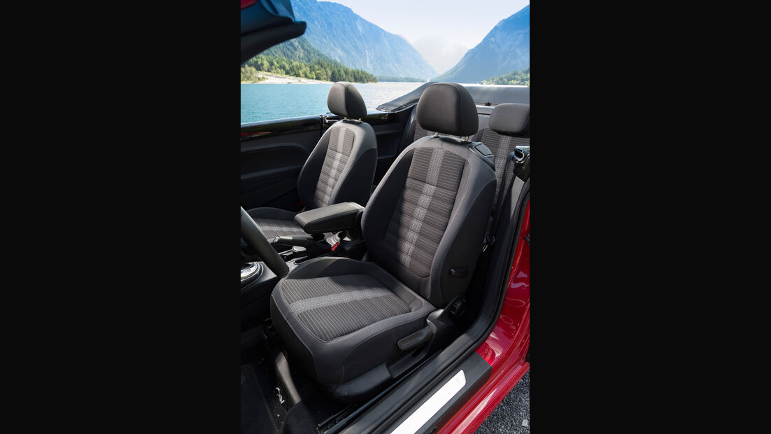 VW Beetle Cabrio, Fahrersitz