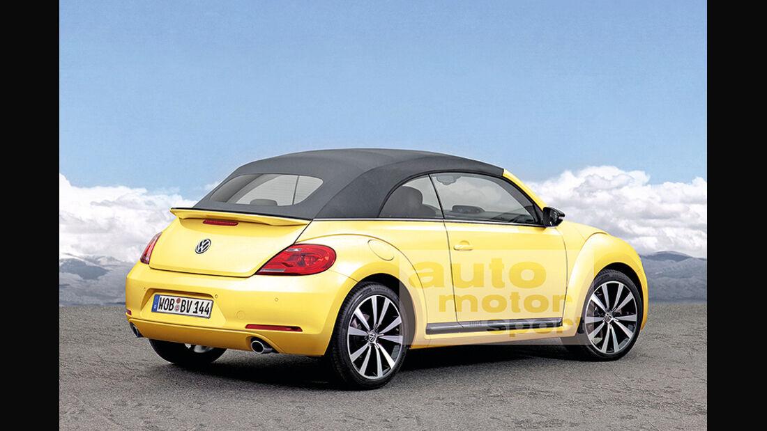 VW Beetle Cabrio, Heck