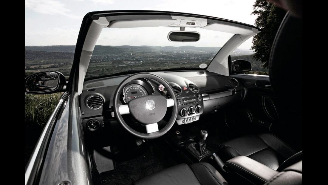 VW Beetle Cabrio Innenraum